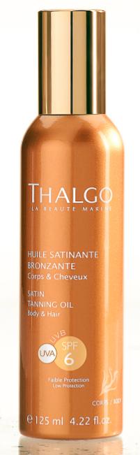 Pendant l'exposition : Huile satinante bronzante, Thalgo 25€