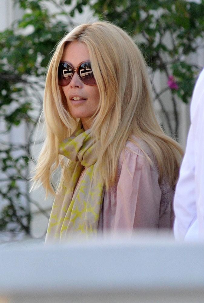 Les lunettes de soleil rondes de Claudia Schiffer