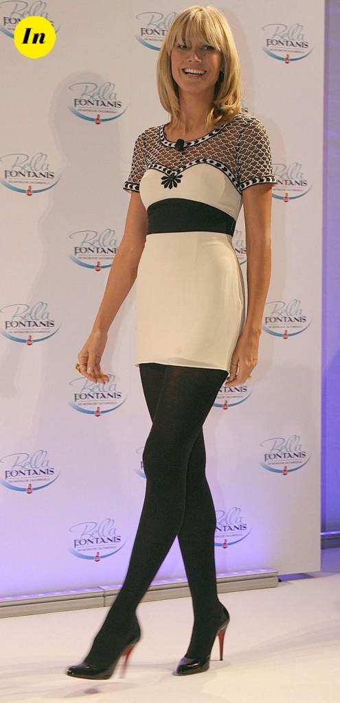 Courte mais simple et sans chichi, cette tenue met en valeur les longues jambes d'Heidi !