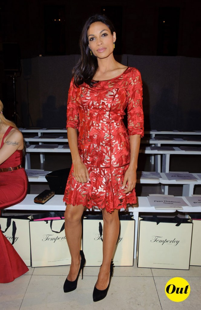 Fashion Week de Londres : Rosario Dawson au défilé Temperley !