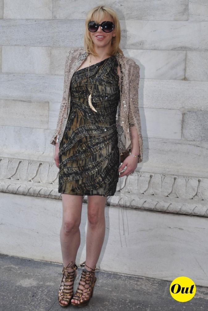 Fashion Week de Milan : Courtney Love au défilé Cavalli !