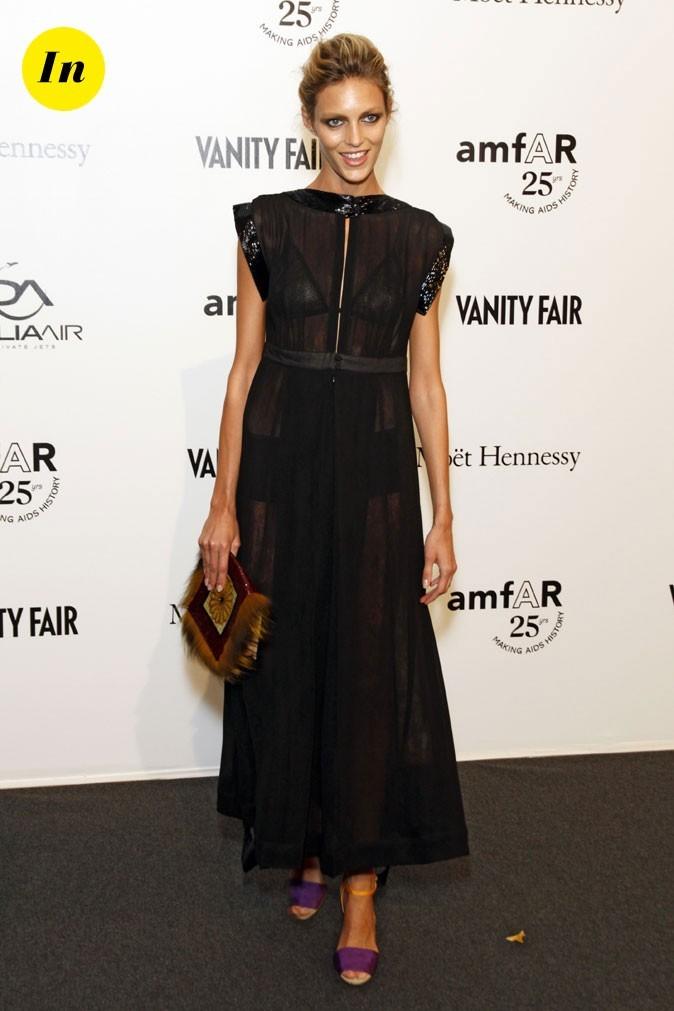 Fashion Week de Milan : Anja Rubik au gala de l'amFAR !