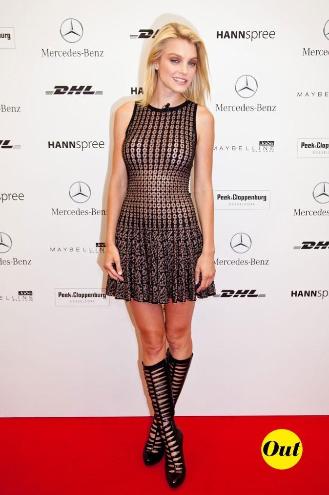 Jessica Stam pendant la Fashion Week de Berlin