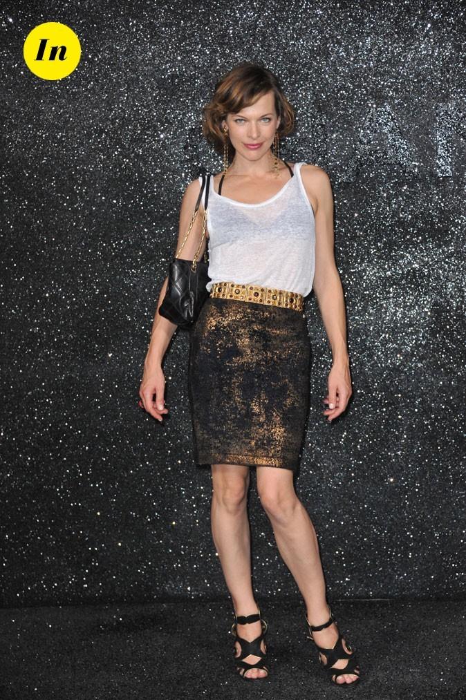 Milla Jovovich au défilé Chanel
