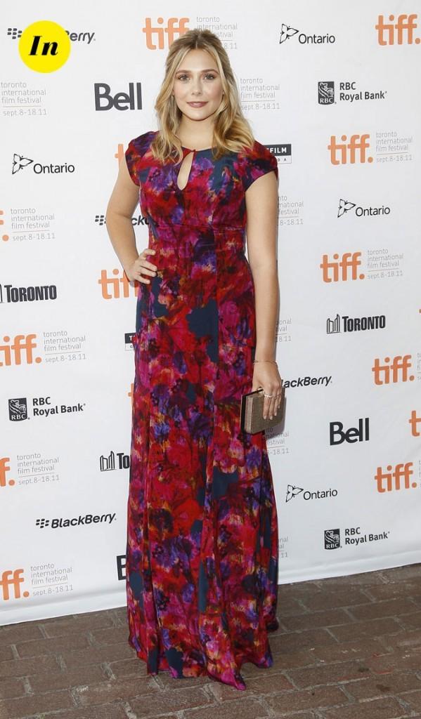 Festival du film de Toronto 2011 : la robe longue fleurie d'Elizabeth Olsen !
