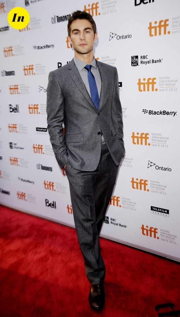 Festival du film de Toronto 2011 : le costume gris chiné de Chace Craword !