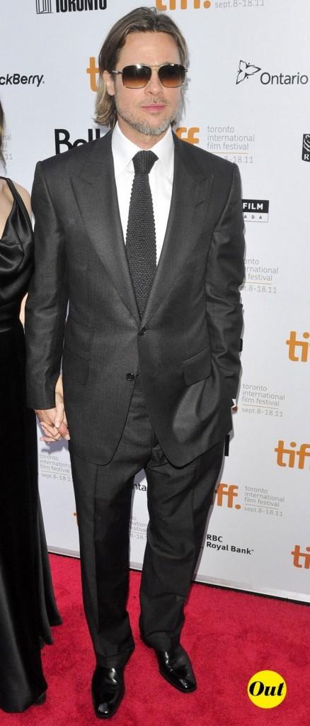 Festival du film de Toronto 2011 : le costume noir et les lunettes fumées de Brad Pitt !