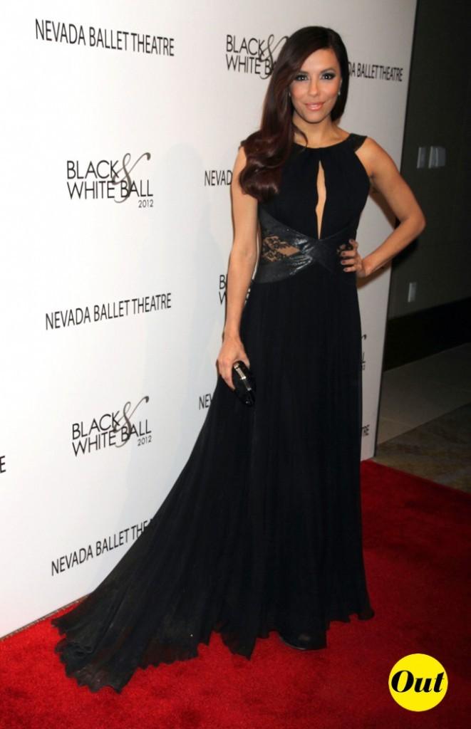 Eva Longoria porte la robe noire !