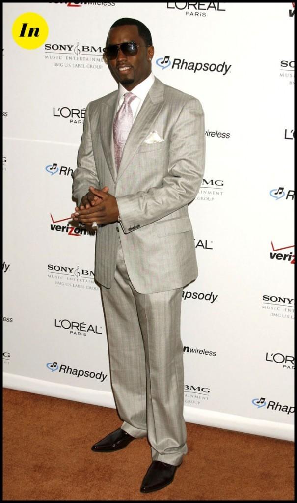 P.Diddy : Rappeur mais avant tout business man dans son costume ajusté.