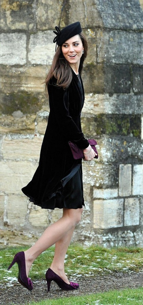 Look de star : le petit chapeau noir de Kate Middleton en janvier 2011