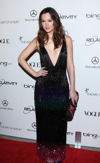 Photo : le look décolleté de Leighton Meester en janvier 2011