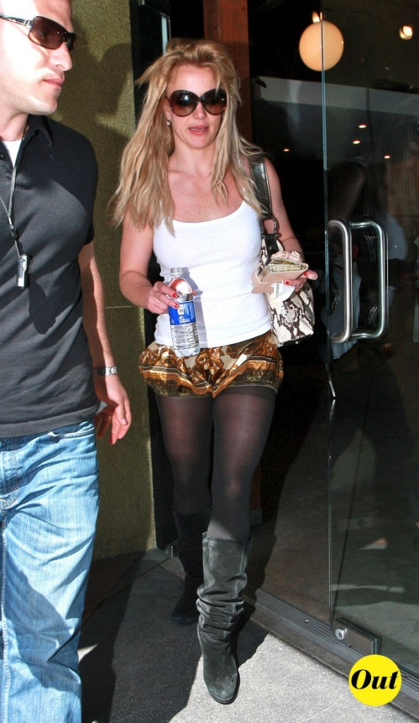 Photo : le short tapisserie de Britney Spears