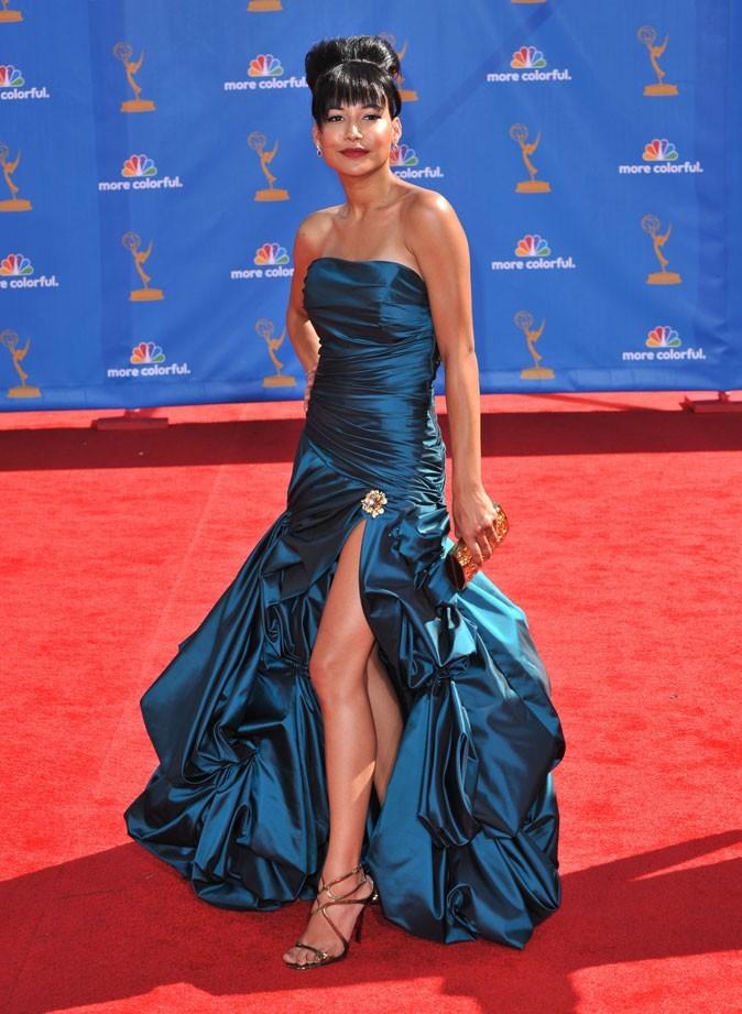Les stars de Glee en mode glamour : la robe longue bustier de Naya Rivera