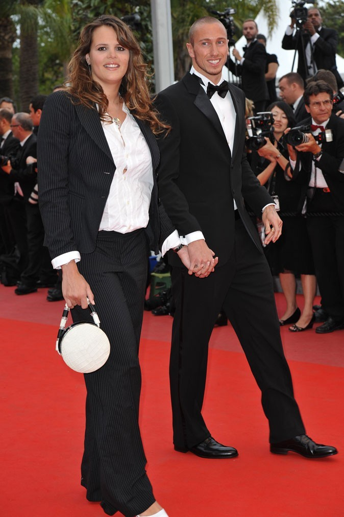 Le look fashion du couple de nageurs Laure Manaudou/Frederick Bousquet
