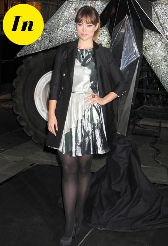 Olivia brille en argenté !