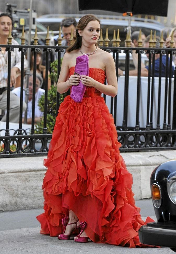 La robe longue bustier rouge de Blair Waldorf !