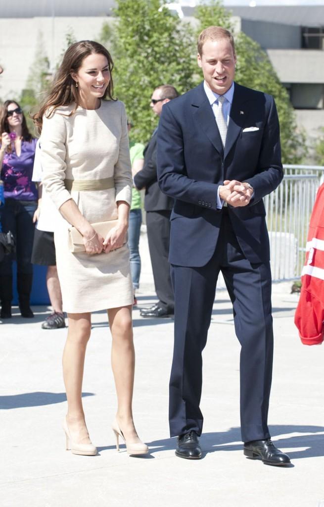 Kate Middleton le 6 juillet 2011 au Canada : une robe crème Malene Birger
