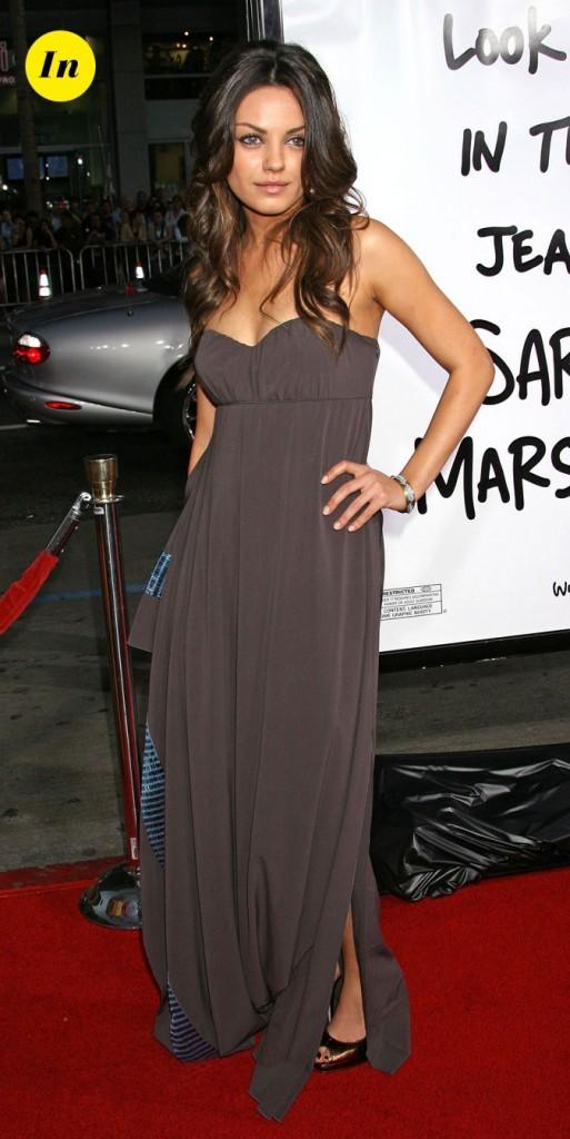 La robe bustier fluide de Mila Kunis en Avril 2008 !