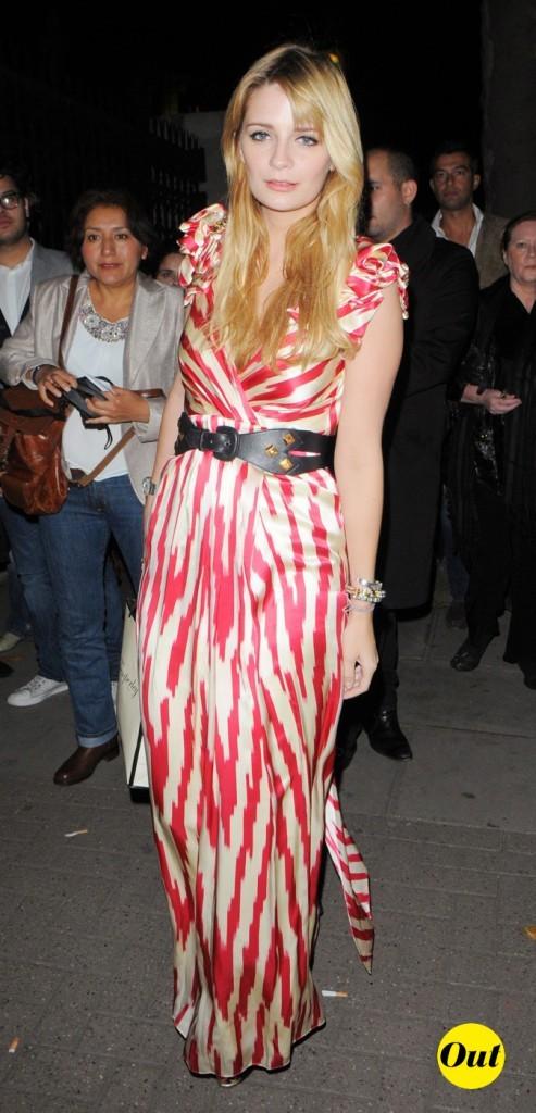 2008 : Mischa Barton lors de la semaine de la mode à Londres !