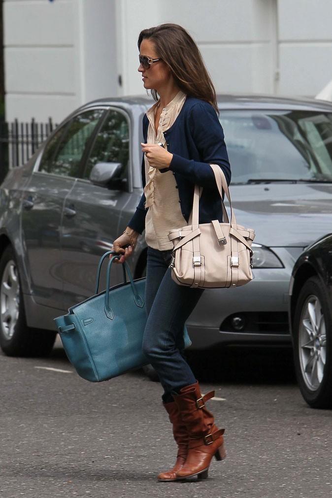 Le look jean brut de Pippa Middleton en mai 2011
