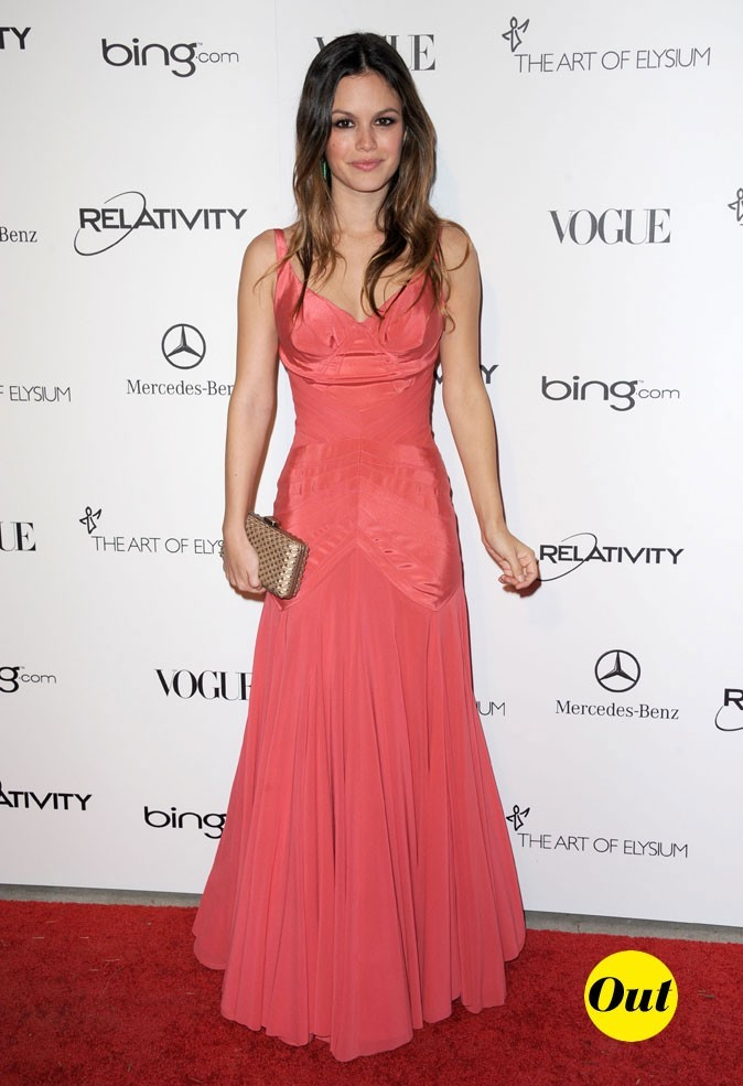 La robe corail satinée Zac Posen de Rachel Bilson en Janvier 2011 !