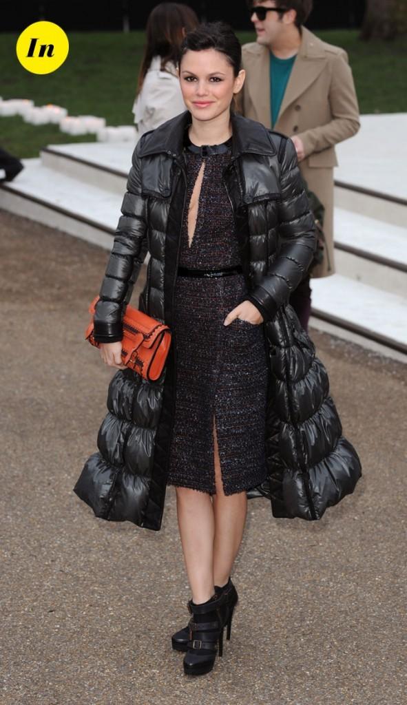 La robe en tweed et la doudoune Burberry de Rachel Bilson en Février 2011 !