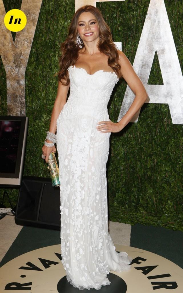 Février 2012 : Sofia Vergara lors des Vanity Fair Oscars !