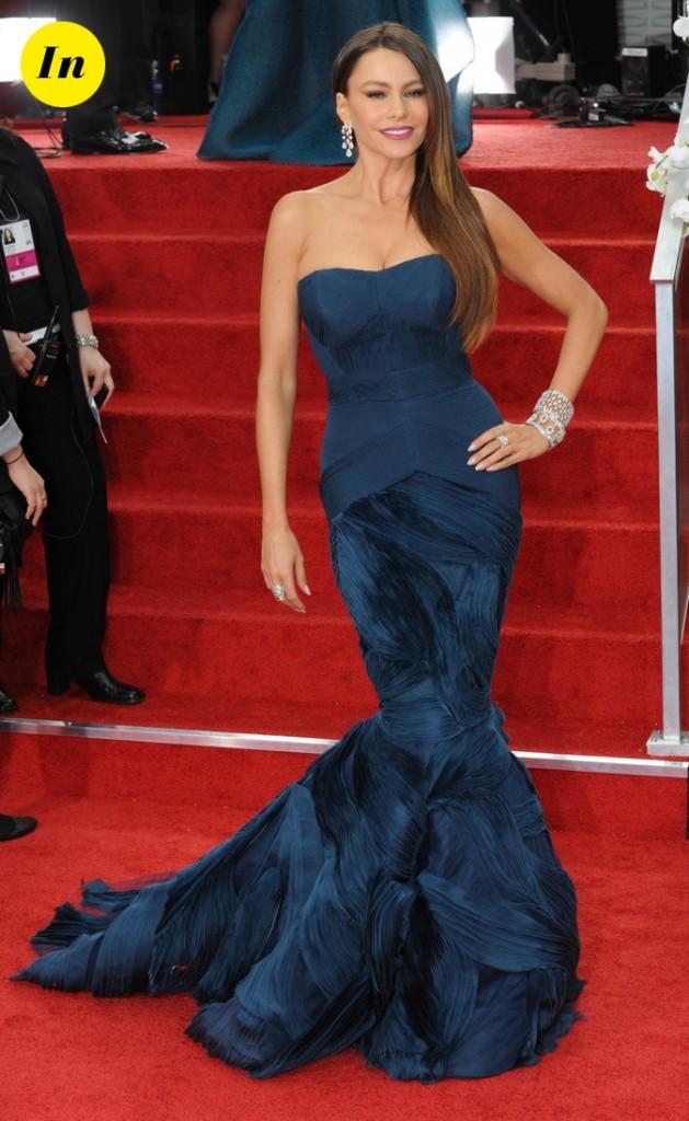 Sofia Vergara lors des Golden Globes début 2012 !