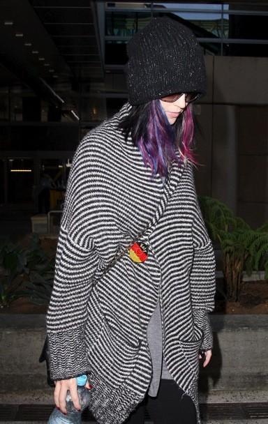 Katy Perry sous son poncho