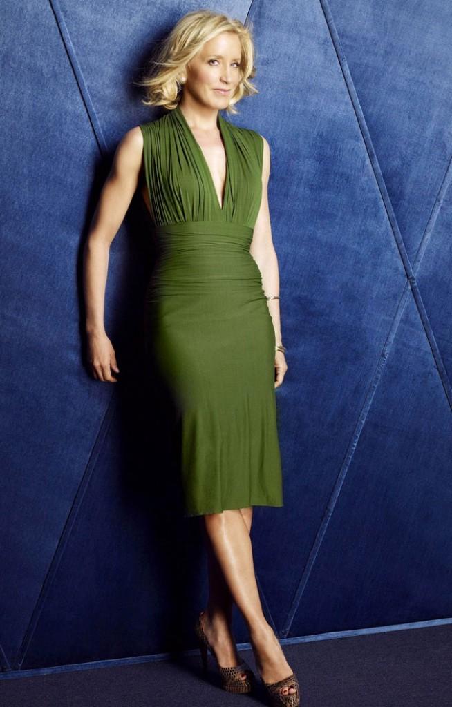 Looks de Felicity Huffman : une robe drapée verte dans Desperate Housewives !