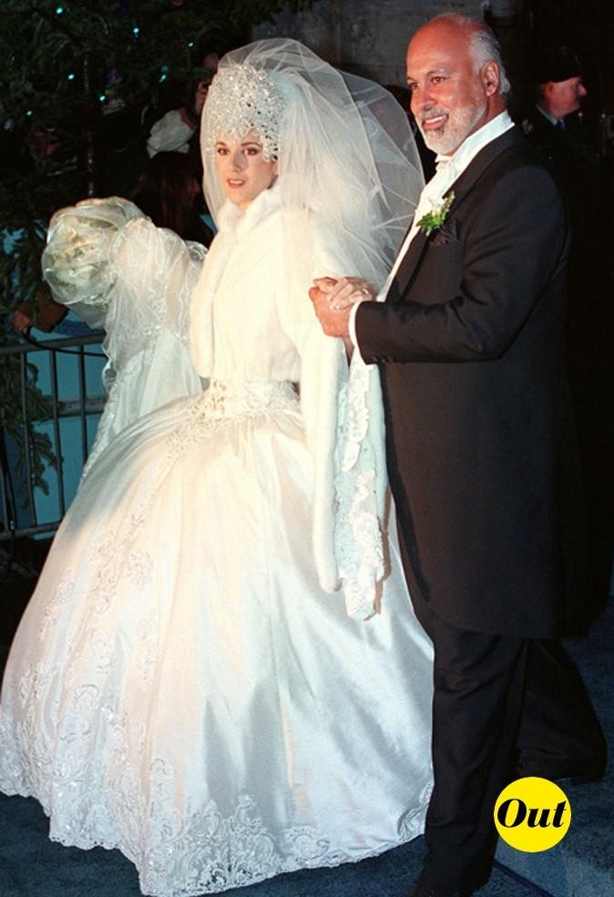 La robe de mariée de Céline Dion