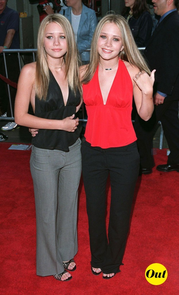 Les dos-nu assortis des soeurs Olsen en Juillet 2001 !