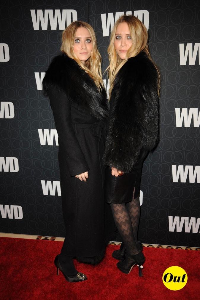 Les fourrures noires de Mary-Kate et Ashley Olsen en Novembre 2010 !
