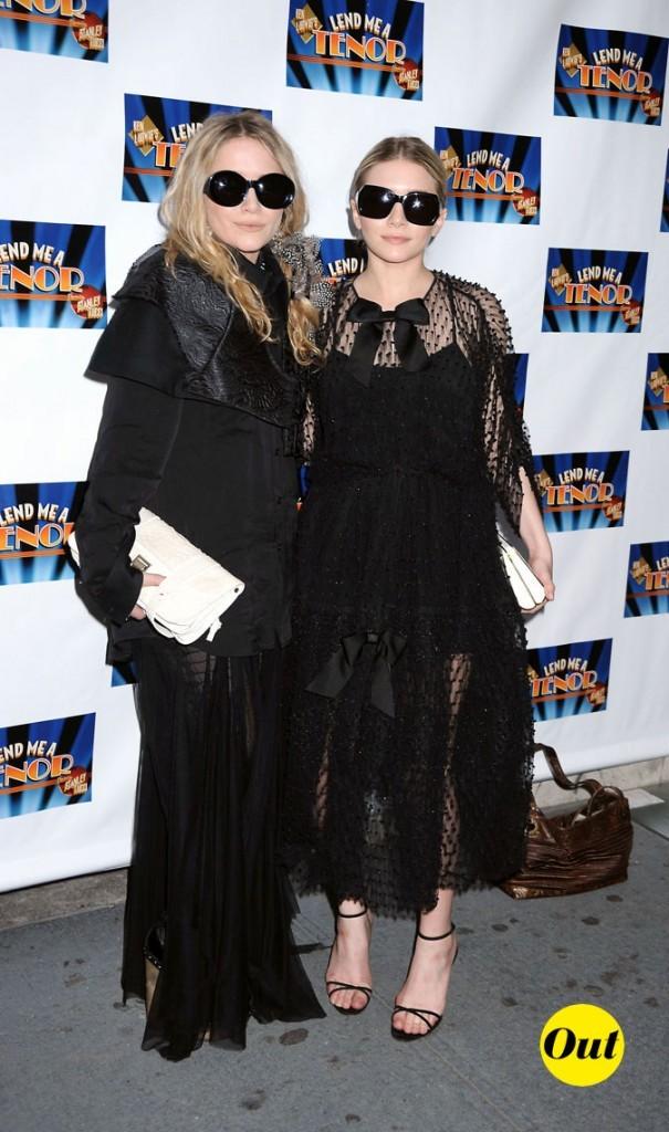 Les looks veuve noire des soeurs Olsen en Avril 2010 !