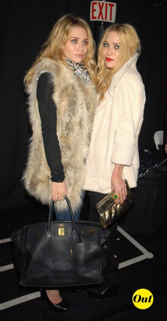 Les manteaux de fourrure des jumelles Olsen en Février 2007 !