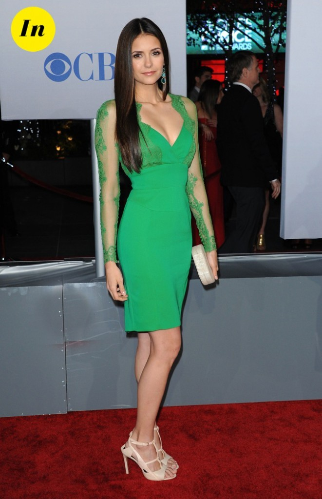 Nina Dobrev (Vampire Diaries) se met au vert avec Elie Saab