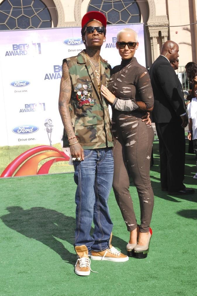 2011: Wiz Khalifa et Amber Rose aux BET Awards.