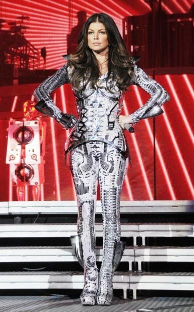 Fergie sur scène avec les Black Eyed Peas