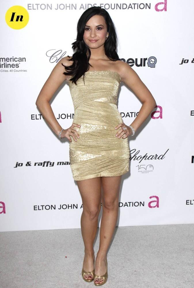 Une robe dorée sans chichi