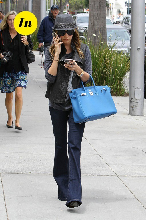 Ashley Tisdale et son sac Hermès