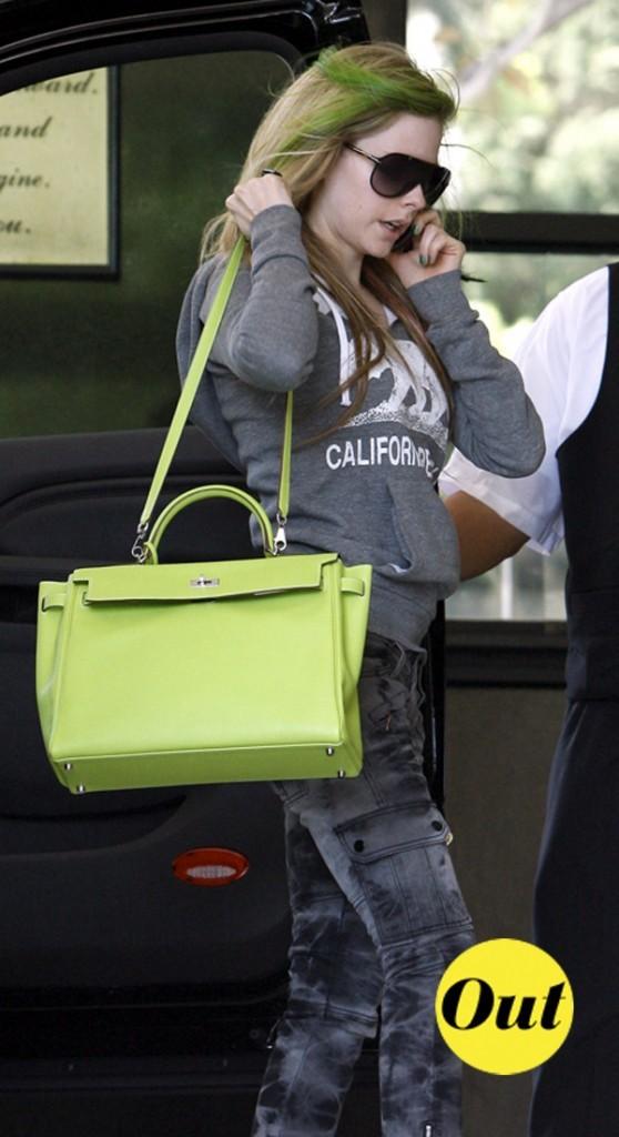 Avril Lavigne et son sac Hermès