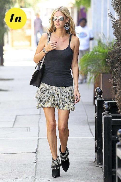 La jupe à volants de Nicky Hilton