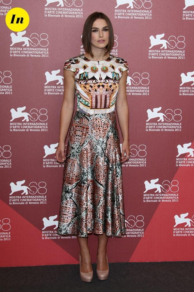 Mostra de Venise 2011 : la robe graphique Mary Katrantzou de Keira Knightley