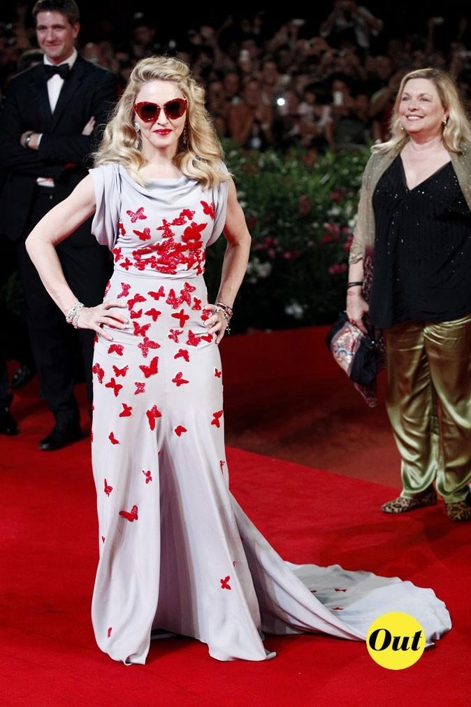 Mostra de Venise 2011 : la robe imprimé papillons Vionnet de Madonna