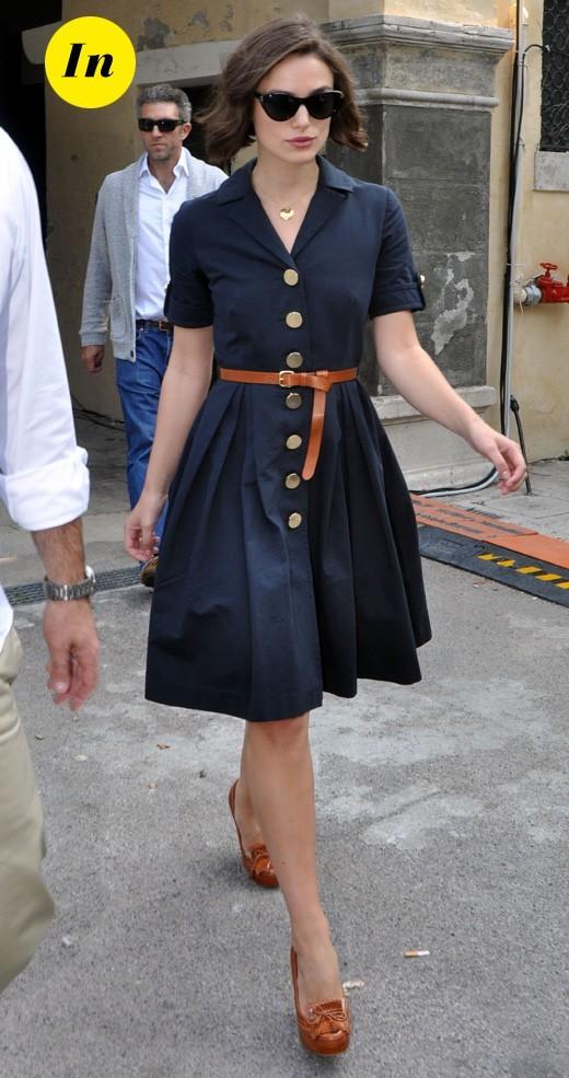 Mostra de Venise 2011 : la robe rétro bleue de Keira Knightley