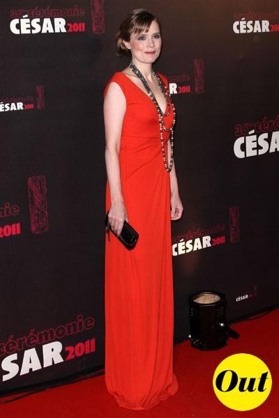 Photos : César 2011 : la robe Escada d'Isabelle Carré