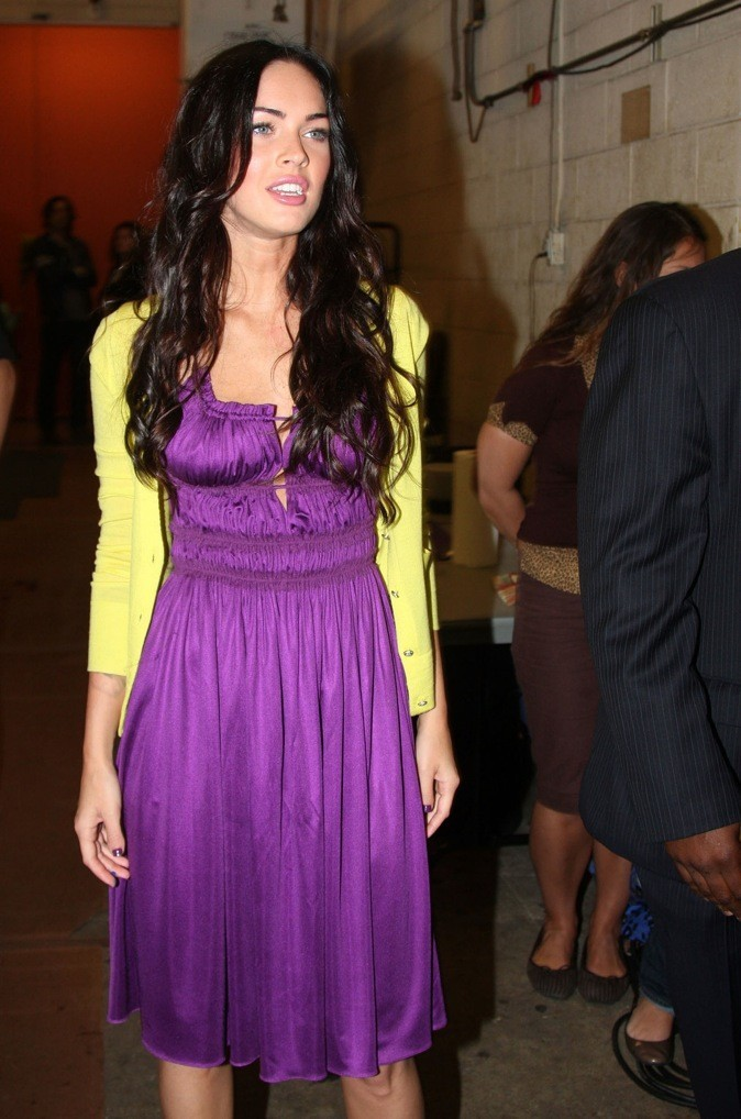 Megan Fox en mode color block !