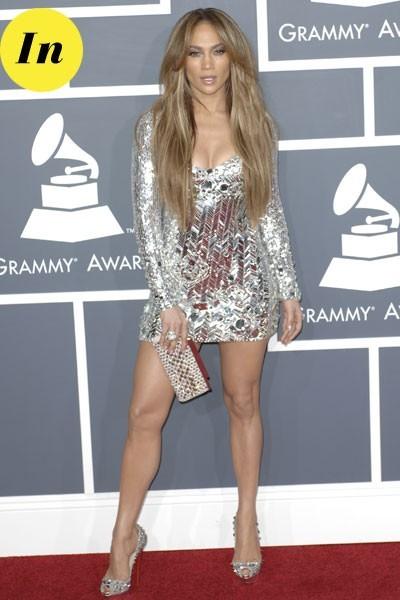 Photos : Grammy Awards 2011 : la robe Emilio Pucci de Jennifer Lopez