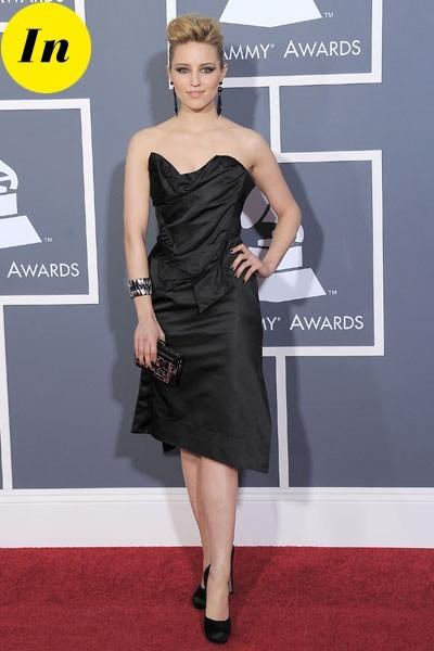 Photos : Grammy Awards 2011 : la robe Vivienne Westwood de Dianna Agron