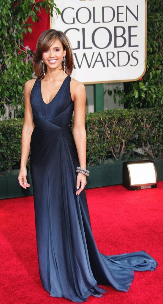 Jessica Alba lors des Golden Globes Awards !